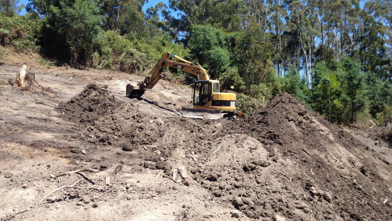 Excavating a house site