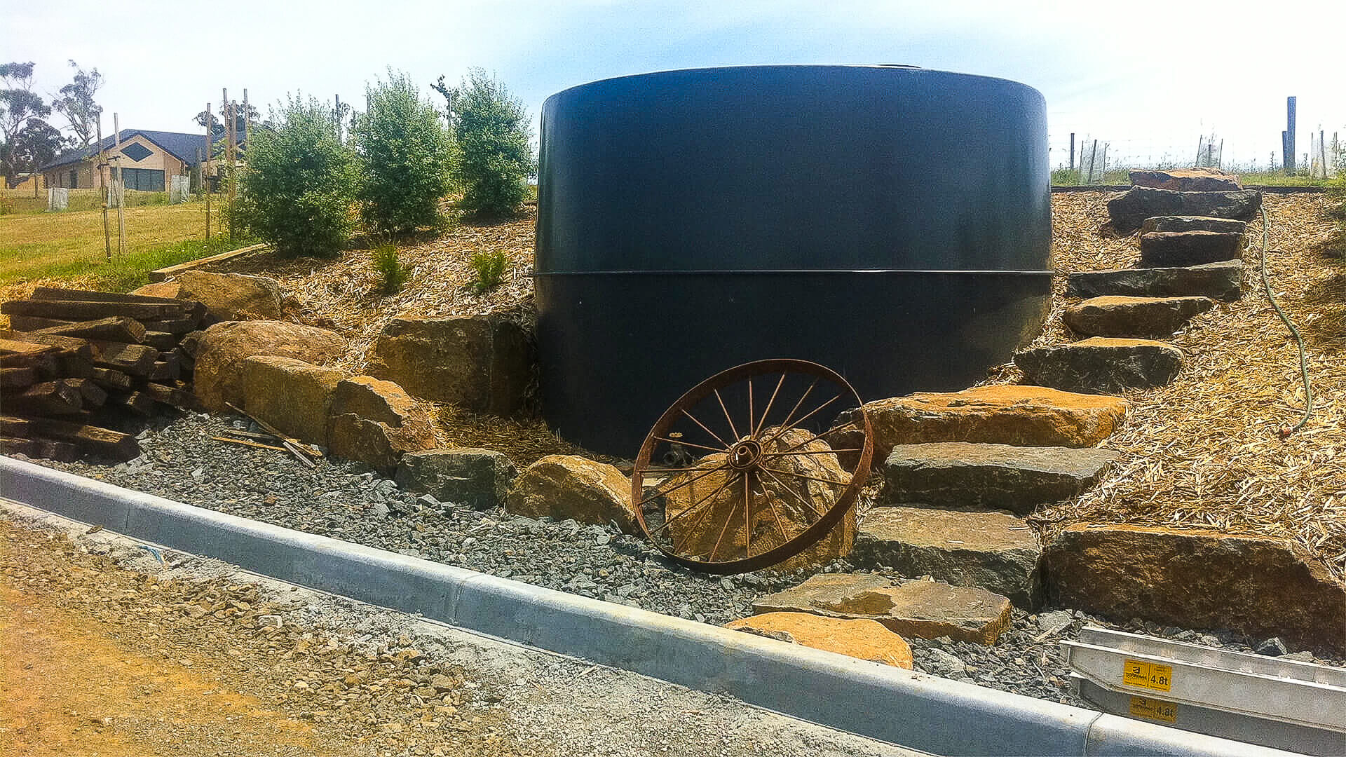 Water Tank and Stairs